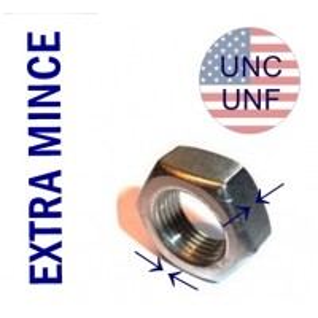 ECROU EXTRA MINCE UNC-UNF
