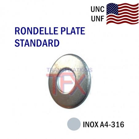RONDELLE PLATE COTES POUCES INOX A2