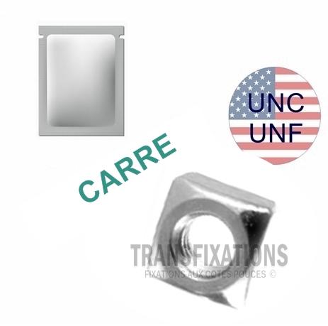 ECROU AMERICAIN CARRE UNC UNF